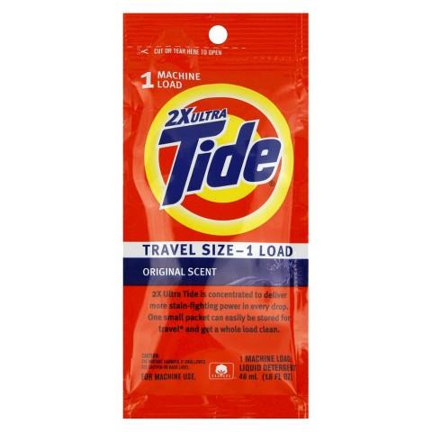 Tide Detergent Travel Size Original Scent 1 Load