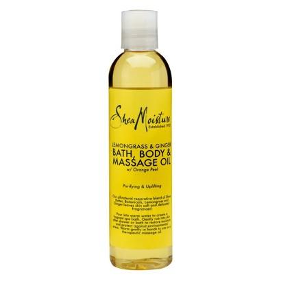 SheaMoisture Lemongrass & Ginger Bath, Body & Massage Oil - 8 fl oz