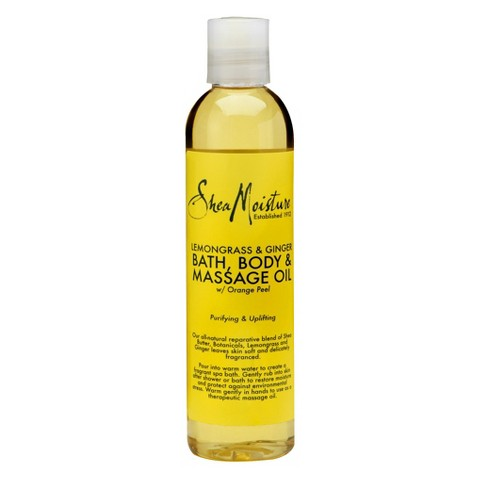 SheaMoisture Lemongrass & Ginger Bath, Body & Massage Oil - 8 fl oz