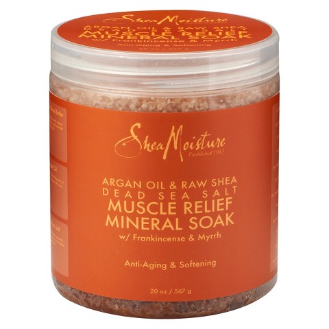 SheaMoisture Argan Oil & Raw Shea Dead Sea Salt Muscle Relief Mineral Soak - 20 oz