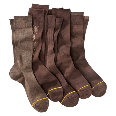 Auro® a GoldToe Brand Men's 5pk Dress Socks - Assorted Colors