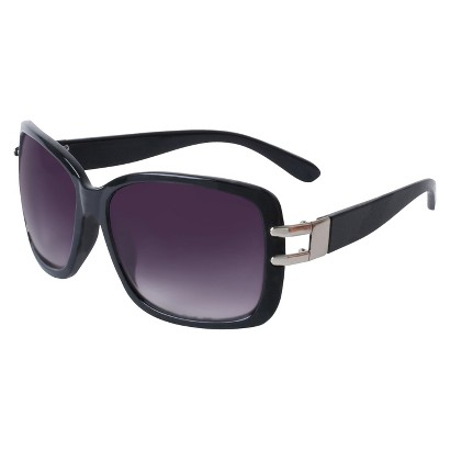 Merona® Plastic Rectangle Sunglasses with Open Hinge - Black