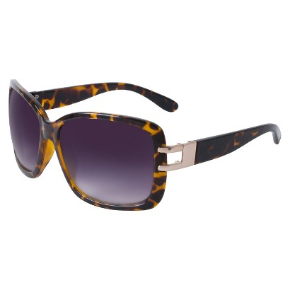 Merona® Plastic Rectangle Sunglasses with Open Hinge - Tortoise