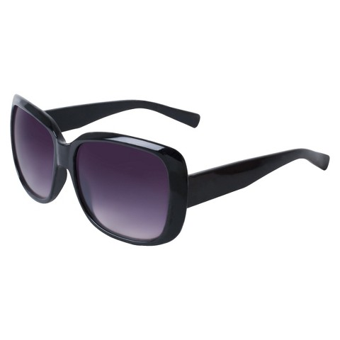 Plastic Square Sunglasses - Black