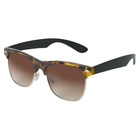 Retro Frame Large Sunglasses - Tortoise