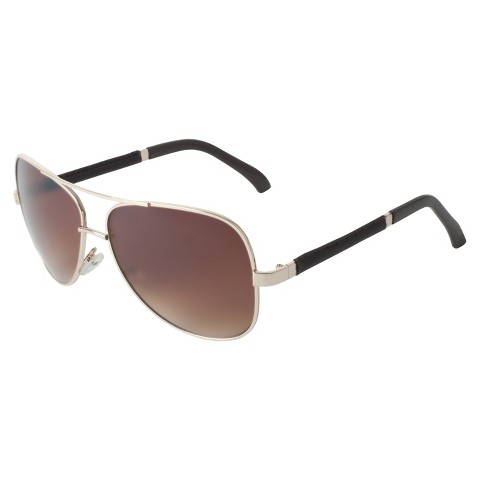 Men's Metal Aviator Sunglasses - Gold