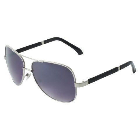 Men's Metal Aviator Sunglasses - Silver
