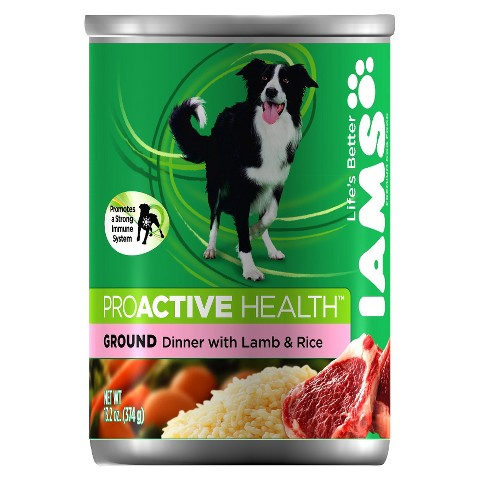 Iams ProActive Health Adult Ground Dinner with Lamb and Rice Wet Dog Food 13.2oz