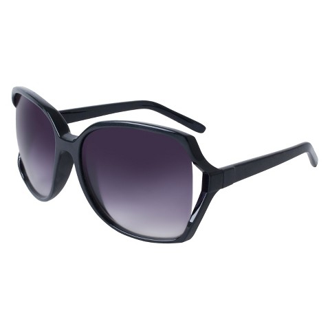 Oversized Sunglasses with Vented Lens - Black