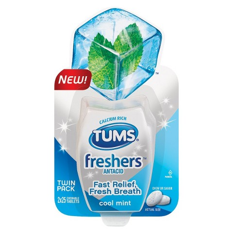 TUMS® Extra Strength Antacid Cool Mint Freshers - 50 Count