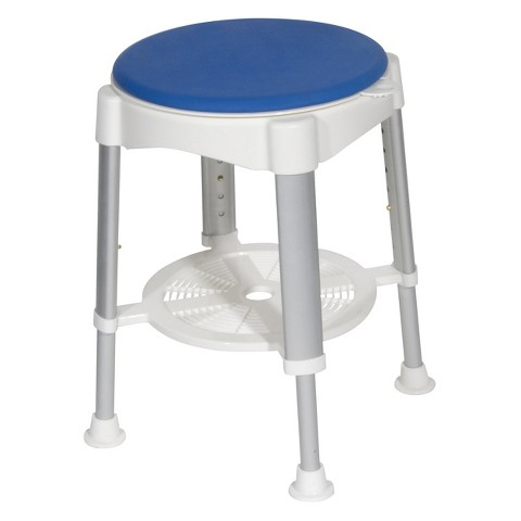 Drive Medical Bath Stool - White and Blue (Standard)