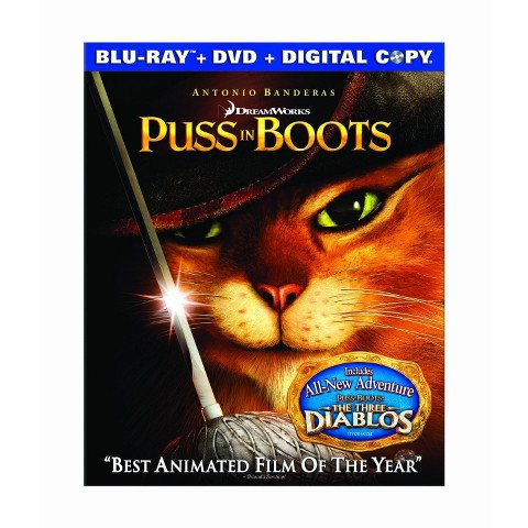 Puss in Boots (Blu-ray/DVD) (Includes Digital Copy) (W) (Widescreen)