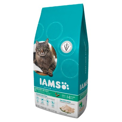 Iams ProActive Health Adult Indoor Weight & Hairball Care Dry Cat Food 5 lbs