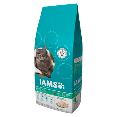 Iams ProActive Health Adult Indoor Weight & Hairball Care Dry Cat Food 2.9 lbs