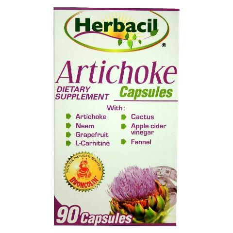 Herbacil Artichoke Dietary Supplement - 90 capsules