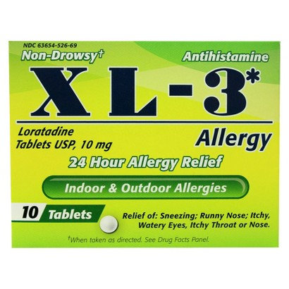 XL-3 24 hour Allergy Relief - 10 tablets