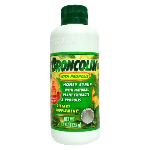 Broncolin With Propolis Honey Syrup Dietary Supplement - 11.4 oz