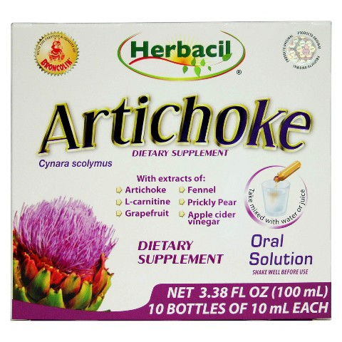 Herbacil Artichoke Dietary Supplement Oral Solution - 3.38 oz