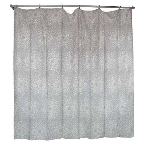 Threshold™ Sunburst Shower Curtain - Silver
