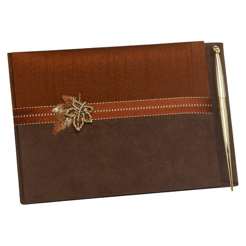 Fall In Love Wedding Guest Book with Pen