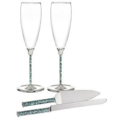 Seashell Flutes and Serving Set