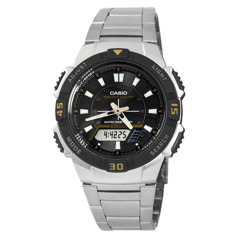 Casio Men's Slim Solar Watch - Silver - AQS800WD-1EV