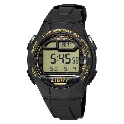Casio Men's 60-Lap Runners Watch - Black - W734-9AV