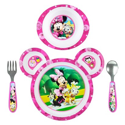 The First Years Disney Minnie Mouse 4pc Feeding Set