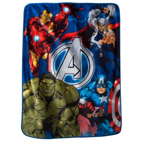 "Marvel's The Avengers Assemble Throw - Blue (60""x50"")"