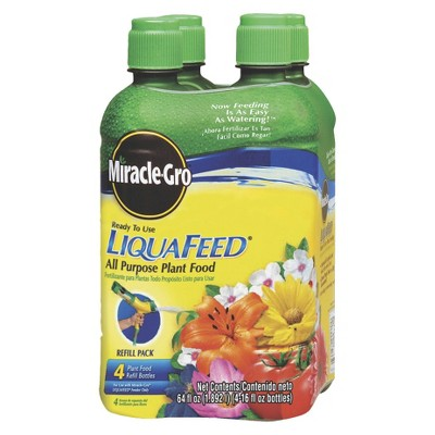 Miracle-Gro Liquafeed All Purpose Plant Food Refill 4-Pack 16oz bottles