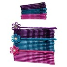 Gimme Basics Bobby Pins - Bright Purple/Blue/Pink (36 Count)