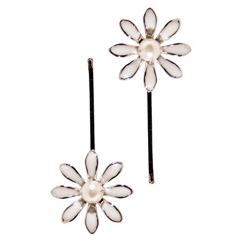 Gimme Couture Pearl Hair Clip - White