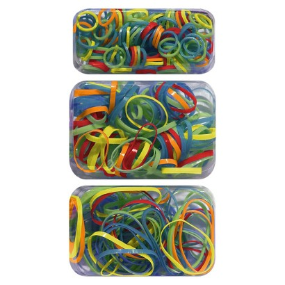 Gimme Clips Primary Plastic Elastics -  Orange/Red/Blue/Green/Yellow (275 Count)