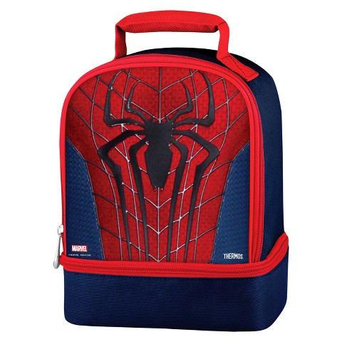 Thermos Spiderman Dual Lunch Kit - Black/Red