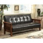 Leatherette Convertible Sofa - Dark Espresso