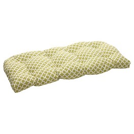 Outdoor Patio Cushion Collection - Green/White Geometric
