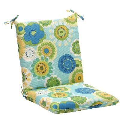 Outdoor Chair Cushion - Blue/Green Floral