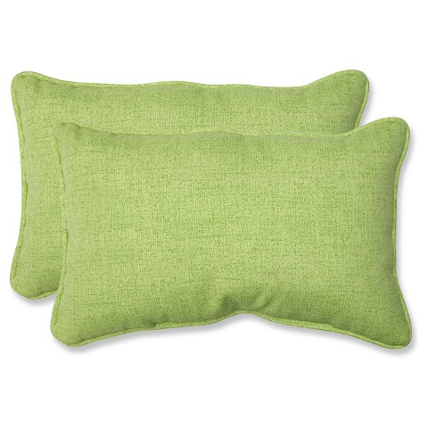 """Outdoor 2-Piece Lumbar Toss Pillow Set - Green 18"""""""