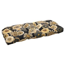 Outdoor Patio Cushion Collection - Black/Yellow Floral