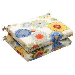 Outdoor Patio Cushion Collection - Blue/White/Yellow Floral