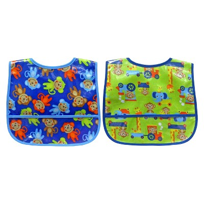 Neat Solutions Easywipe Bib - Monkeys (2 pack)