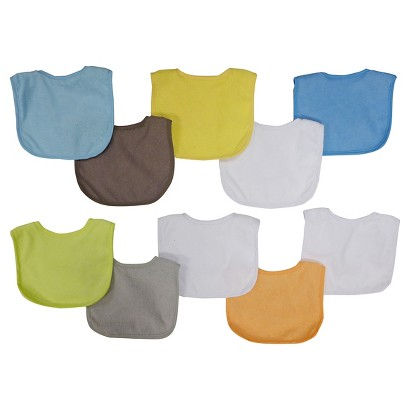 Neat Solutions Boys' Bib - Pastel (10 Pack)
