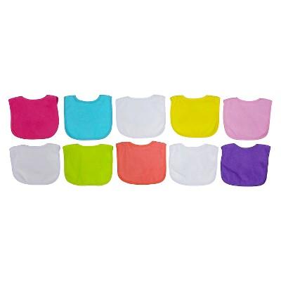 Neat Solutions Girls' Bib Set - Bright (10 pack)