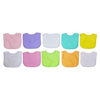 Neat Solutions Girls' Bib Set - Pastel (10 pack)