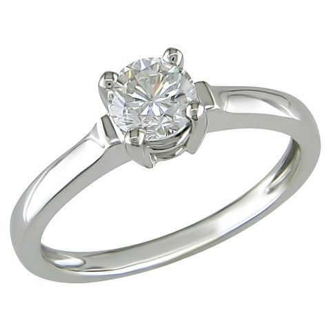 Diamond Solitaire Ring in 14k White Gold