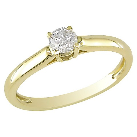 0.25 CT.T.W. Diamond Solitaire Ring in 14K Yellow Gold