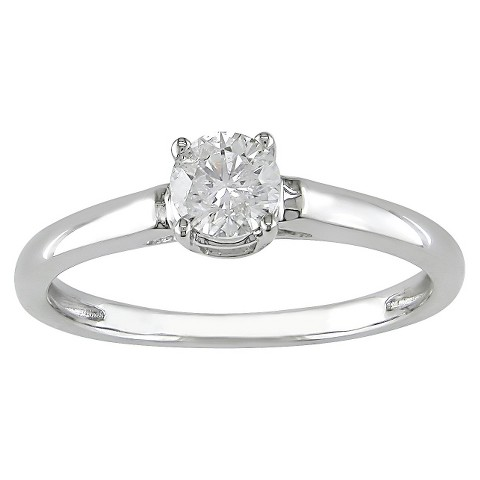 Diamond Solitaire Ring White Gold