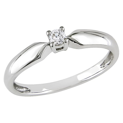 0.1 CT.T.W. Diamond Solitaire Ring in 10K White Gold