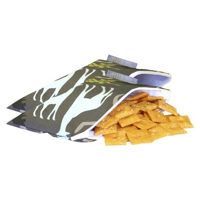 Itzy Ritzy Snack Happens Mini™ Reusable Snack & Everything Bags - Urban Jungle Blue