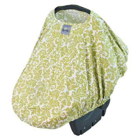 Itzy Ritzy Peek-A-Boo Pod™ Infant Carrier Pod - Avocado Damask